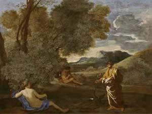 Numa Pompilius and the nymph Egeria