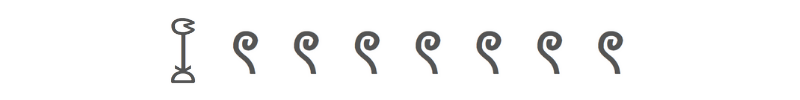 Egyptian numeral 1700
